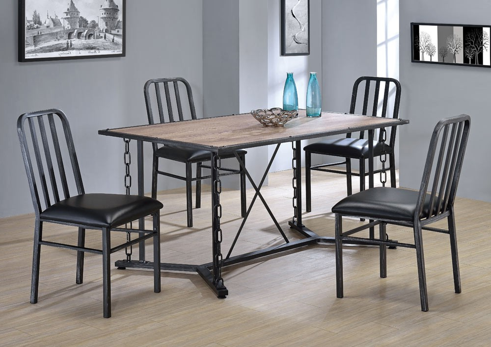 Pablo Industrial Style Dining Table Set Inside Most Recent Industrial Style Dining Tables (Gallery 3 of 20)