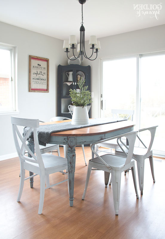 Painted Dining Table  Finally! – The Golden Sycamore Throughout Recent Painted Dining Tables (Gallery 17 of 20)