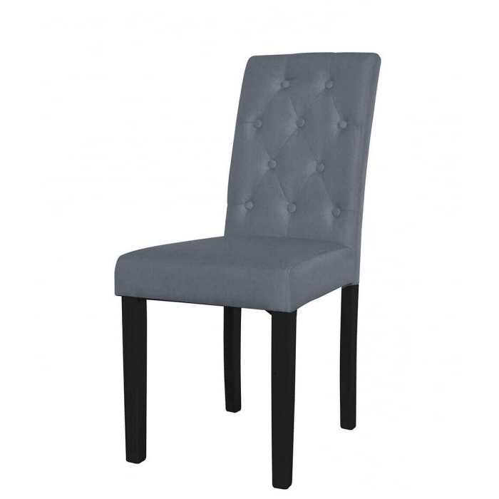 Pair Of Grey Button Back Dining Chairs – Dining Tables And Chairs For Current Button Back Dining Chairs (View 12 of 20)