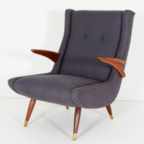 Pair Of Upholstered Armchairs Designedrene Gabriel – Caira Mandaglio Inside Most Popular Caira Upholstered Arm Chairs (View 15 of 20)