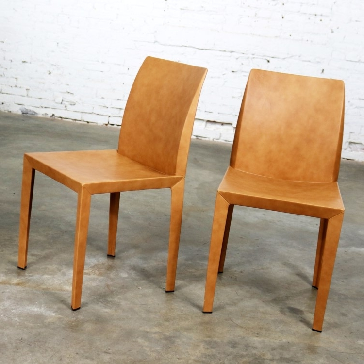 Pair Poltrona Frau Lola Dining Side Chairspierluigi Cerri In Fashionable Lola Side Chairs (View 17 of 20)