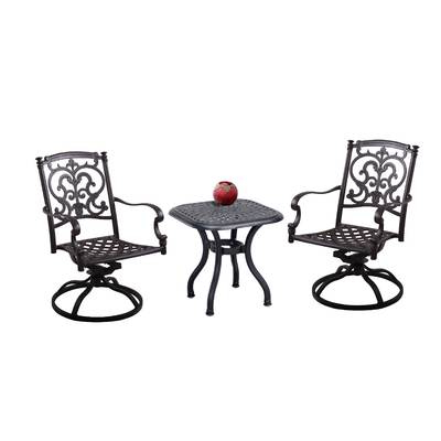 Palazzo 7 Piece Rectangle Dining Sets With Joss Side Chairs With Regard To Recent Charlton Home Kastner 3 Piece Conversation Set & Reviews (View 15 of 20)
