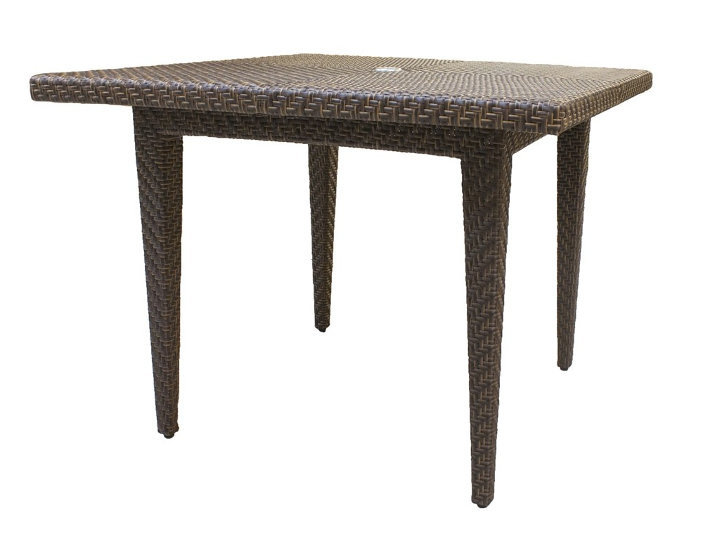 Panama Jack Oasis Square Wicker Dining Table – Wicker Dining Tables Within Most Recent Rattan Dining Tables (View 5 of 20)