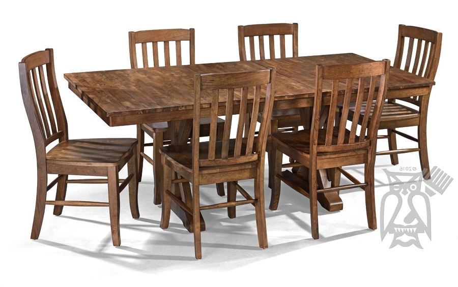 Parawood Carmel Dining Extension Table & Chair Set (View 13 of 20)