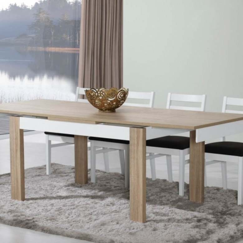 Paris Natura Oak/white Dining Table For Favorite Paris Dining Tables (Gallery 14 of 20)