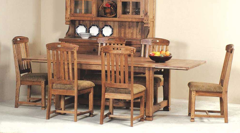 Parquet 7 Piece Dining Sets For Well Known Rustic Oak 7 Piece Dining Setsunny Designs (View 18 of 20)