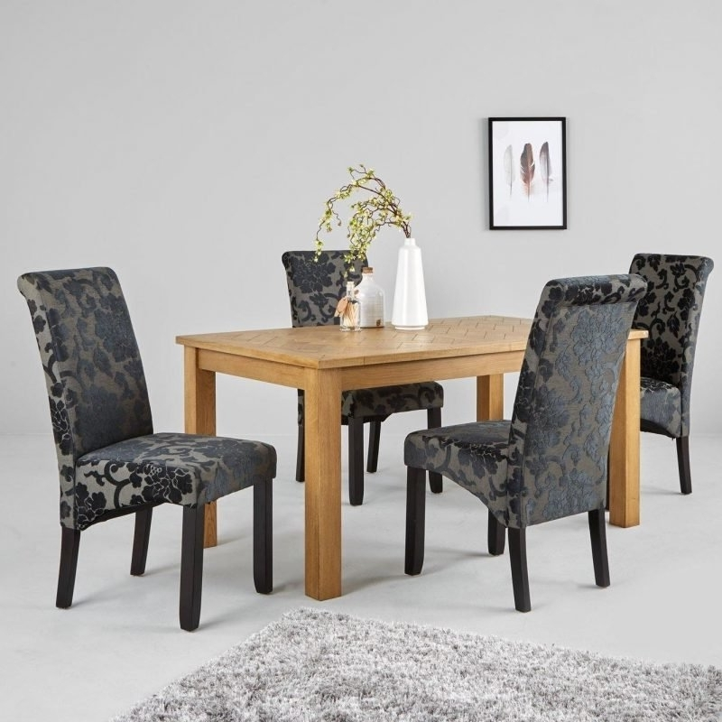 Parquet Dining Chairs Inside Most Recently Released Parquet 150 Cm Solid Oak And Oak Veneer Dining Table – The Furniture Co (View 13 of 20)