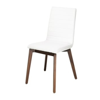 Parquet Dining Chairs Within Best And Newest Parquet Dining Chair Faux Leather Cream (View 14 of 20)