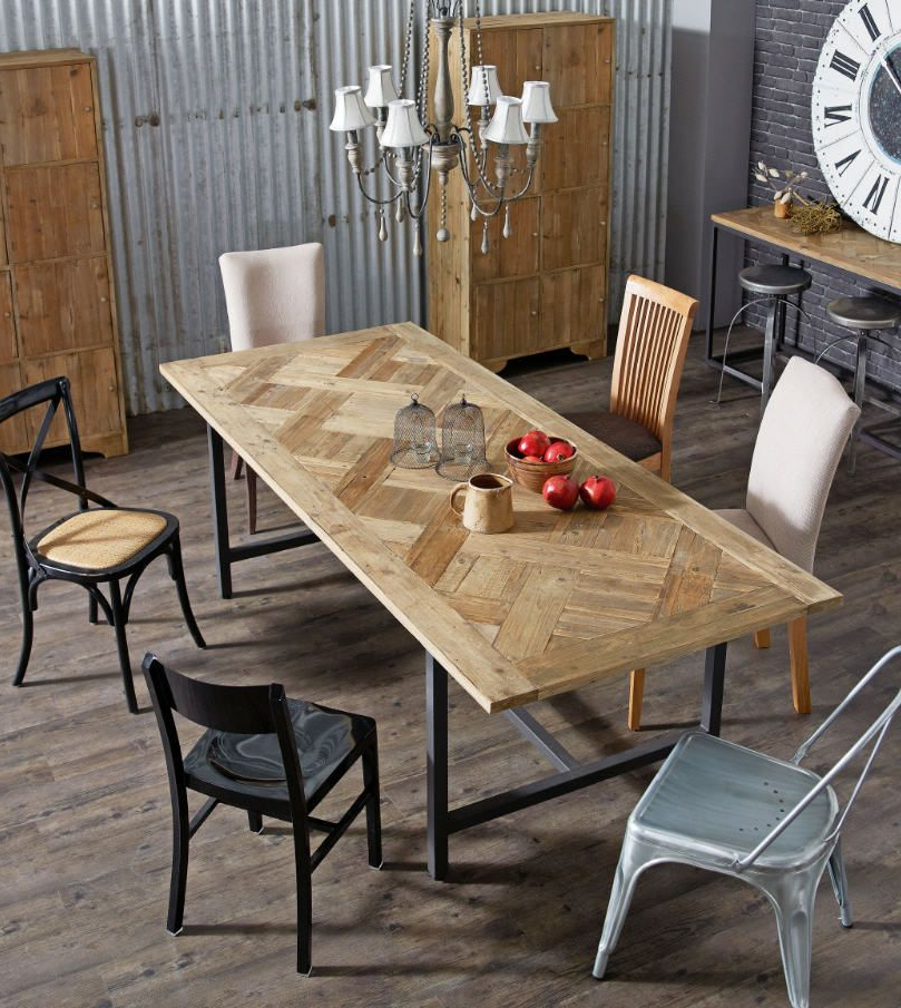 Parquet Dining Tables Pertaining To Popular Put It In Neutral (View 6 of 20)