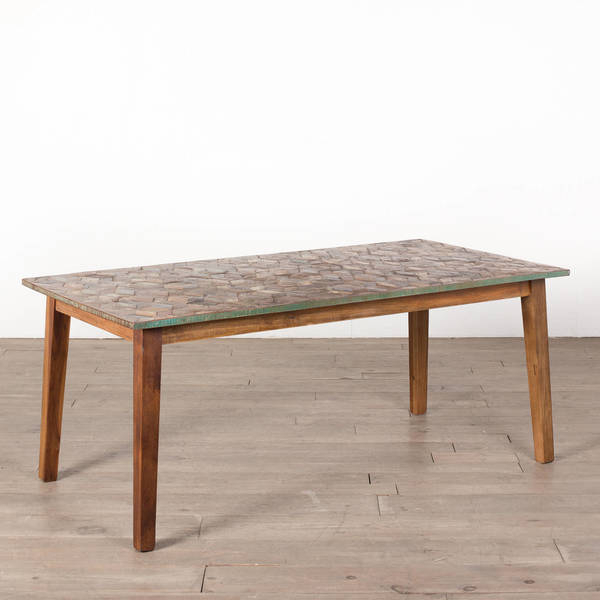 Parquet Dining Tables Within Recent Shop Cg Sparks Handmade Parquet 6' Dining Table (India) – Free (View 16 of 20)