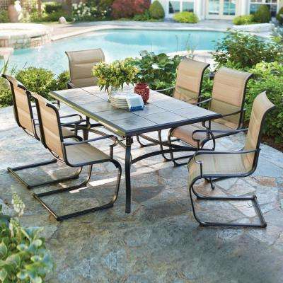 Patio Dining Sets – Patio Dining Furniture – The Home Depot Throughout Current Market 7 Piece Dining Sets With Host And Side Chairs (View 17 of 20)