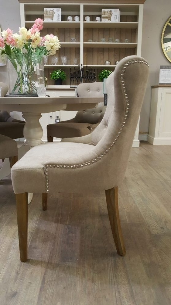 Pavilion Interiors Inside Trendy Button Back Dining Chairs (View 15 of 20)