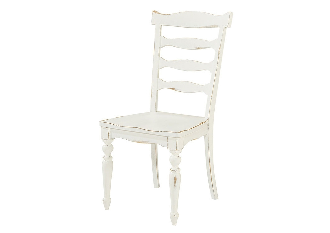 Penland's Furniture Ellis Jo's White Ladder Back Side Chair (set Of 2) Regarding Recent Magnolia Home Revival Jo's White Arm Chairs (View 3 of 20)