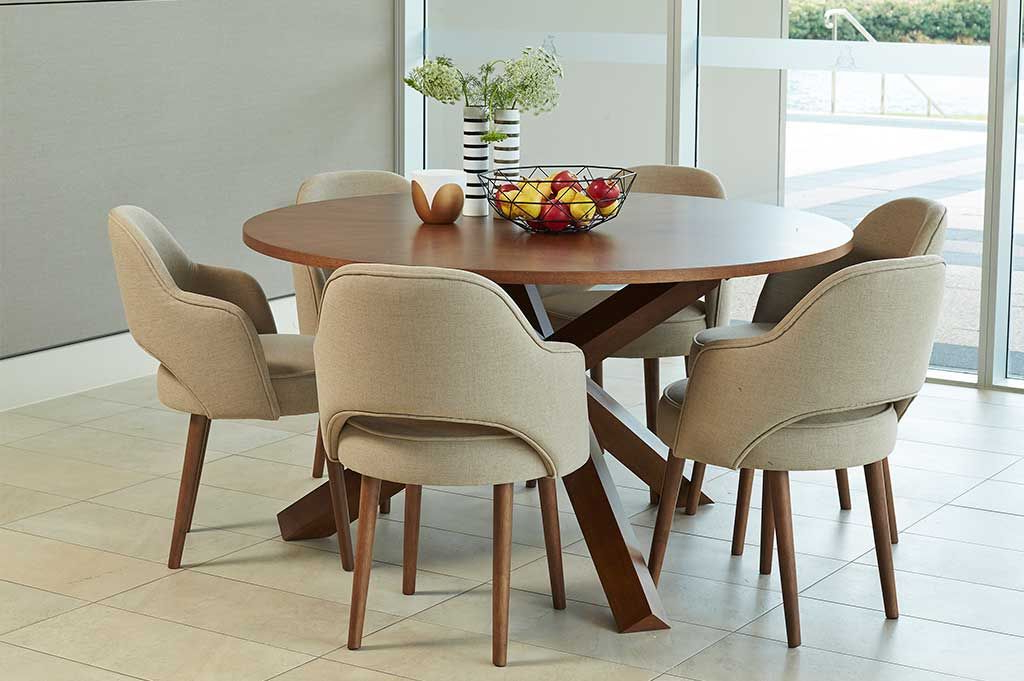 Perth Dining Tables With Most Recent Dining Sets : Harris 7Pce Round Dining Suite Perth, Western (Gallery 3 of 20)