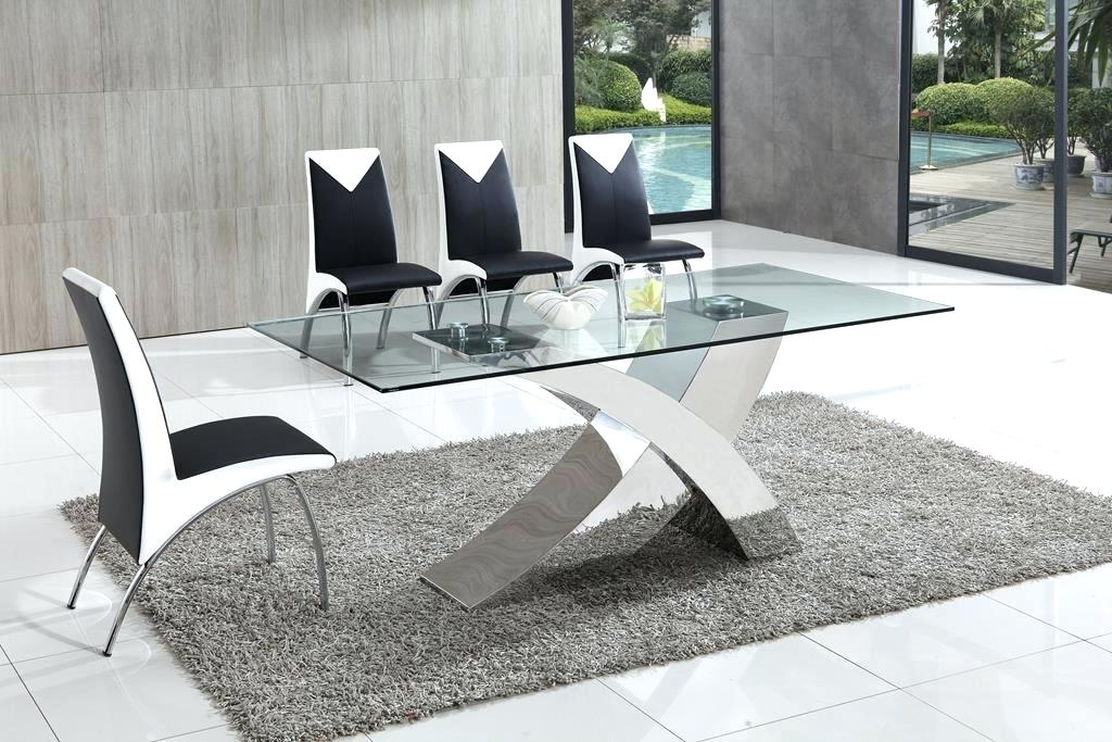Perth Glass Dining Tables Within Favorite Dining Table And Chairs Glass Dining Table Furniture Throughout (View 13 of 20)