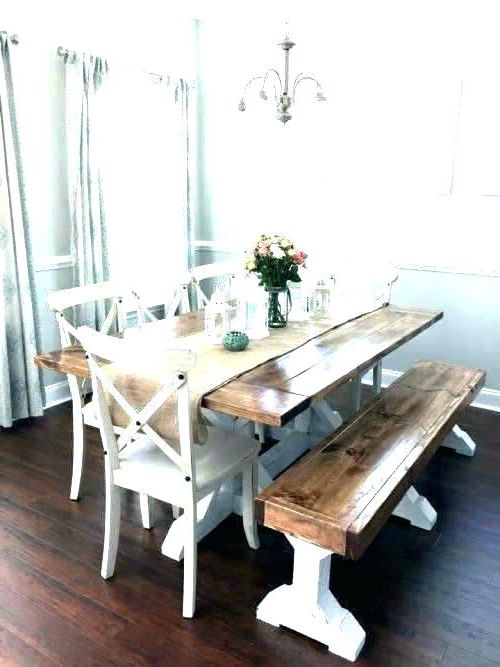 Picnic Table Dining Room Picnic Style Dinner Table Indoor Picnic Regarding Well Liked Indoor Picnic Style Dining Tables (Gallery 5 of 20)