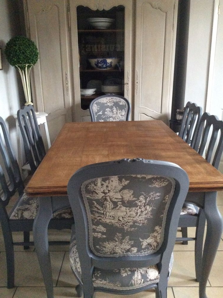 Pilo Blue Side Chairs For Trendy French Blue Shabby Chic Dining Table And Chairs Toile Fabric In Home (View 10 of 20)