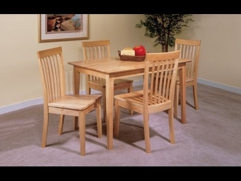 Pine Wood White Dining Chairs Inside Most Up To Date Ikea Table And 4 Chairs Set Solid Pine Wood Dining Kitchen – Youtube (View 20 of 20)