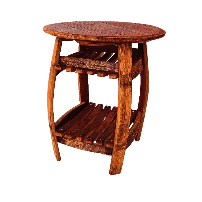 Pinot Red – Side Table From An Old Wine Barrel / Loftmarkt (View 11 of 20)