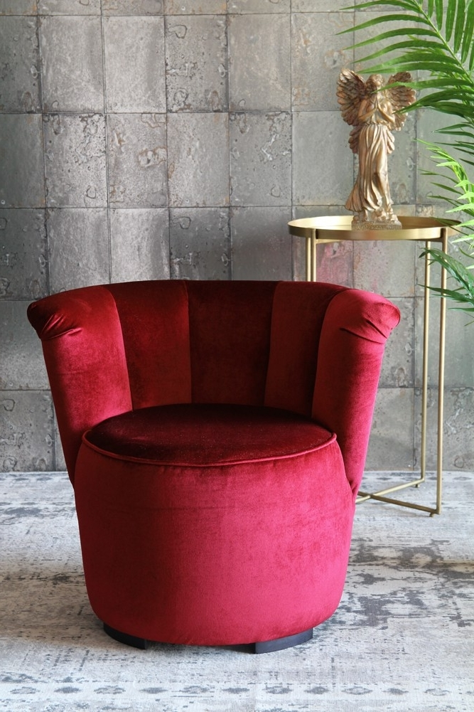 Pinot Side Chairs With Regard To Most Recently Released Gallery Velvet Cocktail Chair – Pinot Noir From Rockett St George (View 12 of 20)