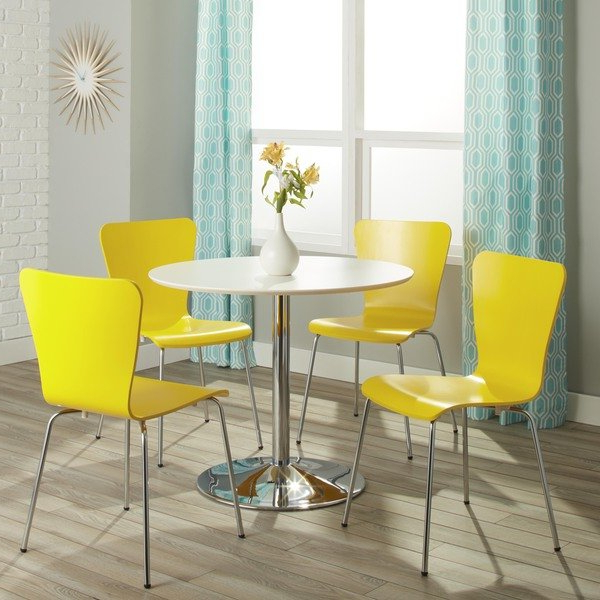 Pisa Dining Tables Intended For Well Liked Shop Simple Living Pisa Modern 5 Piece Dining Set – On Sale – Free (Gallery 8 of 20)