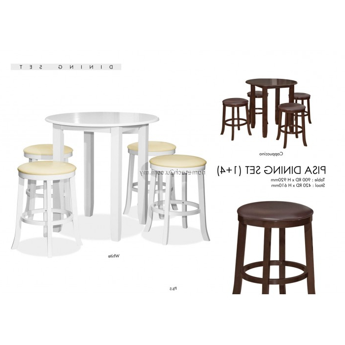 Pisa Rounded Dining Table With Stools Set 1+4 Within Well Known Pisa Dining Tables (View 16 of 20)