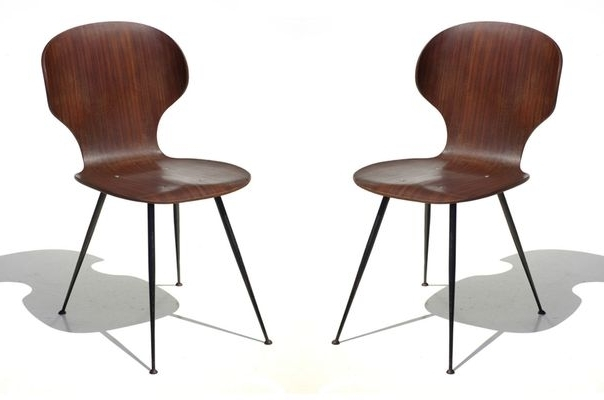 Featured Photo of Plywood & Metal Brown Dining Chairs