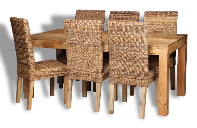 Popular 180cm Dining Tables With Dakota Light 180cm Dining Table & 6 Rattan Chairs (View 8 of 20)
