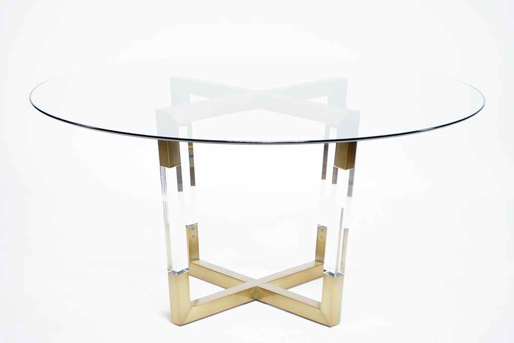 Popular Acrylic Dining Tables In Acrylic And Brass Dining Table – Mecox Gardens (View 17 of 20)