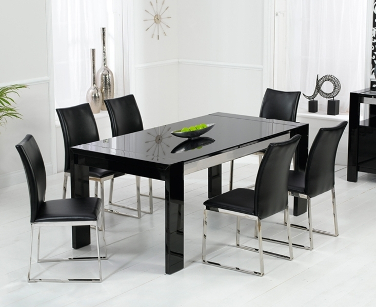 Popular Black Gloss Dining Tables And 6 Chairs For Bujovky Black Gloss Dining Table And 6 Chairs 2018 John Lewis Dining (View 11 of 20)