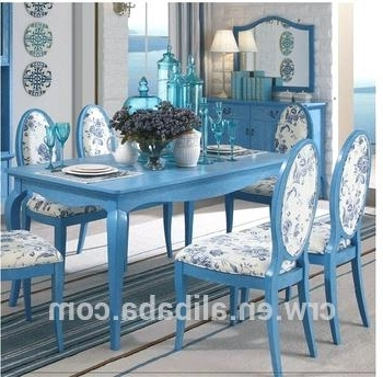 Popular Blue Dining Set Table Navy Patio – Absujest In Blue Dining Tables (View 5 of 20)