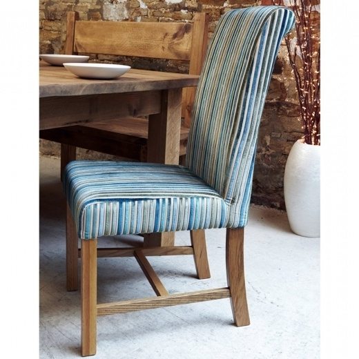 Popular Blue Stripe Dining Chairs Regarding Chunky Marco Deluxe Stripe Dining Chair (View 2 of 20)