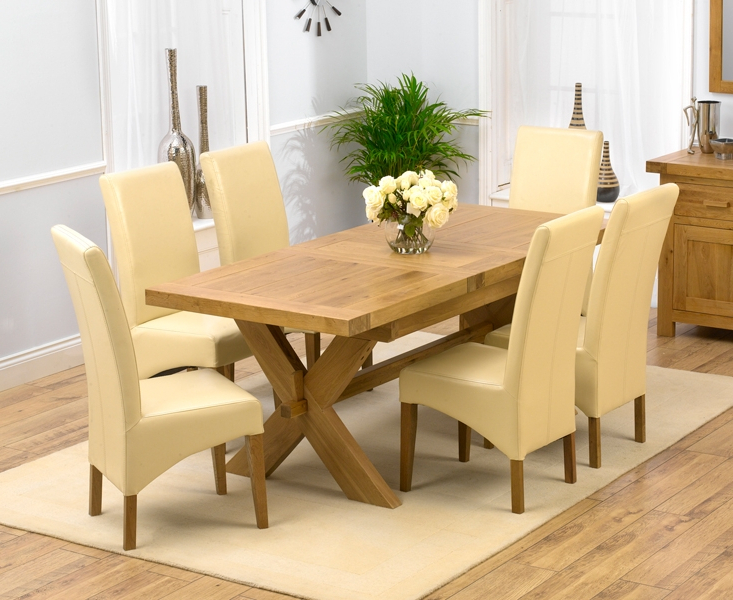 Popular Buy Mark Harris Avignon Solid Oak Dining Set – 160cm Rectangular Regarding Roma Dining Tables And Chairs Sets (View 3 of 20)