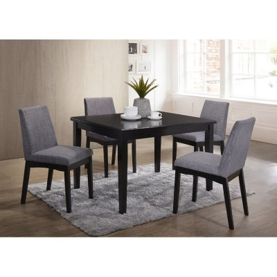 Popular Caden 5 Piece Round Dining Sets With Upholstered Side Chairs Pertaining To Home Source Industries Mattie Dining Table – H 6064 T Mop (View 16 of 20)