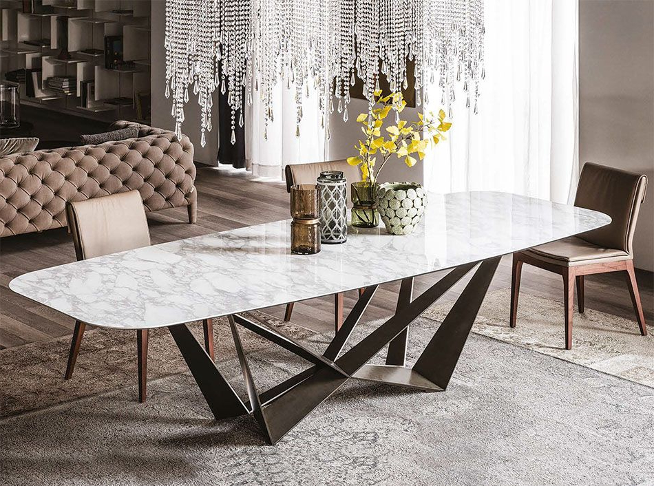 Popular Cattelan Italia Skorpio Keramik Italian Dining Table – $4,450.00 In Italian Dining Tables (Gallery 5 of 20)