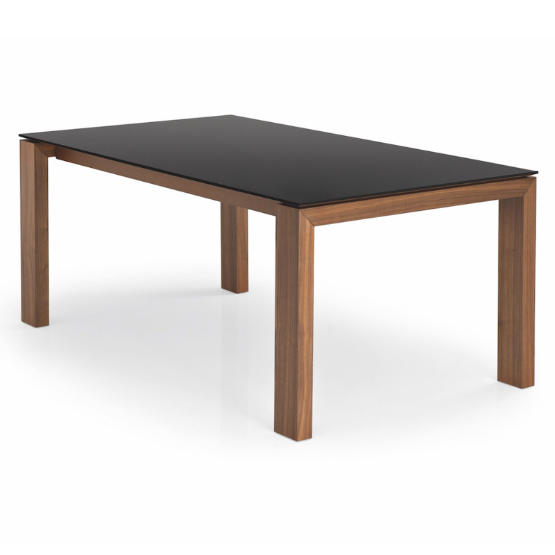 Popular Cesena Glass Dining Table Throughout Glass Dining Tables With Wooden Legs (View 16 of 20)