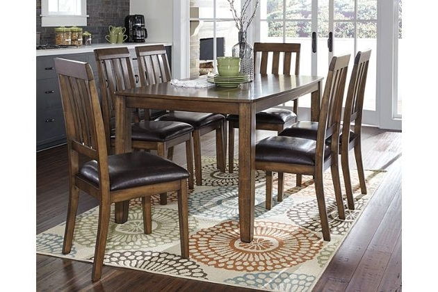 Popular Chandler 7 Piece Extension Dining Sets With Fabric Side Chairs Regarding The Puluxy 7 Piece Dining Set Makes Having A Meal All The More (View 14 of 20)
