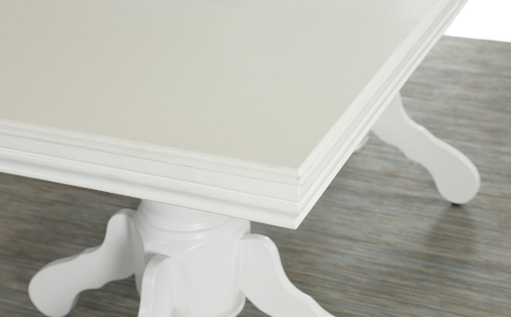 Popular Chatsworth White Extending Dining Table With 6 Bewley Oatmeal Chairs For White Extending Dining Tables (Gallery 1 of 20)
