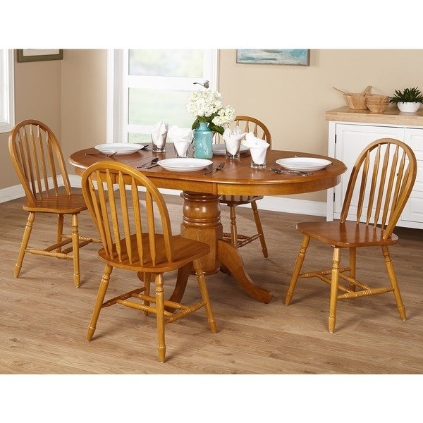 Popular Cheap Oak Dining Sets With Shop Simple Living Farmhouse 5 Or 7 Piece Oak Dining Set – On Sale (View 15 of 20)