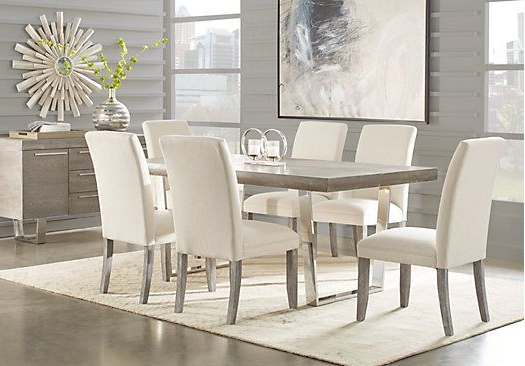Popular Cindy Crawford Home San Francisco Gray 5 Pc Dining Room (View 10 of 20)