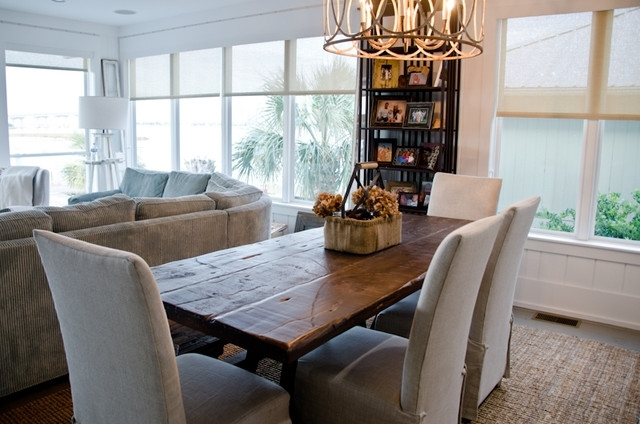 Popular Coastal Dining Tables Within Reclaimed Dining Table/ Oba Project – Beach Style – Dining Room (View 19 of 20)