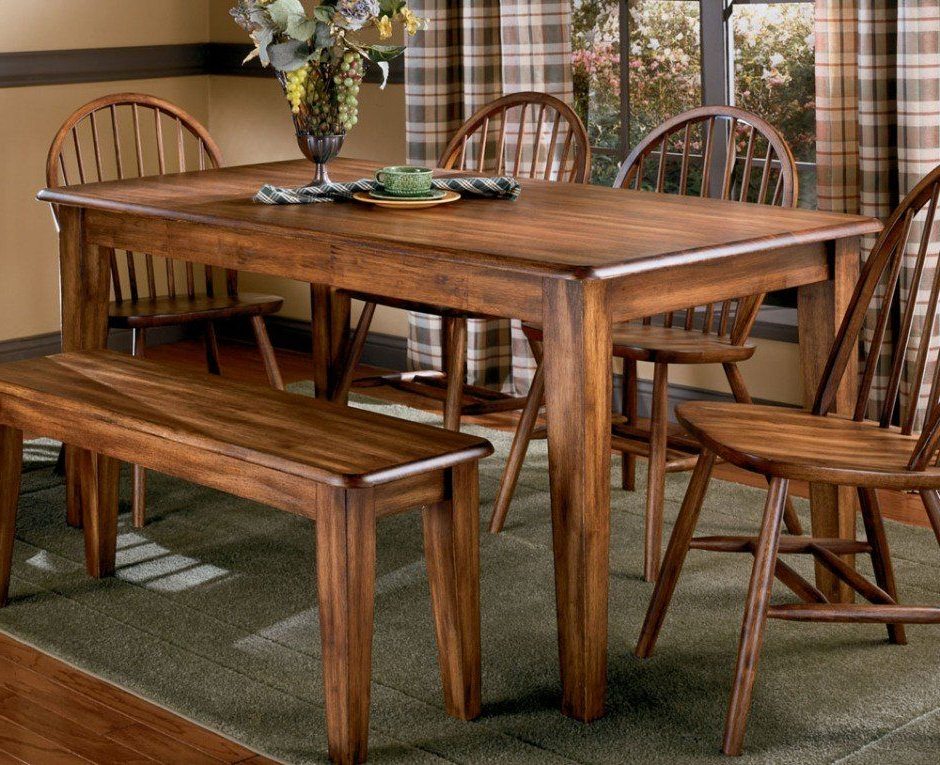 Popular Craftsman 7 Piece Rectangular Extension Dining Sets With Arm & Uph Side Chairs For Dining Room, Old And Vintage Country Style Dining Room Sets With (View 15 of 20)