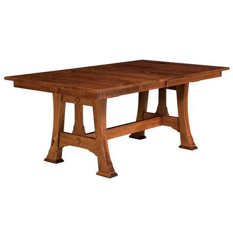 Popular Craftsman Rectangle Extension Dining Tables For Barstow Trestle Extension Table (View 15 of 20)