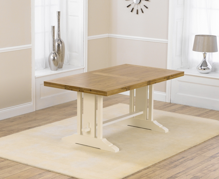 Popular Cream And Wood Dining Tables Pertaining To Cavanaugh Oak & Cream Dining Table Oak And Cream Dining Room Table (View 14 of 20)