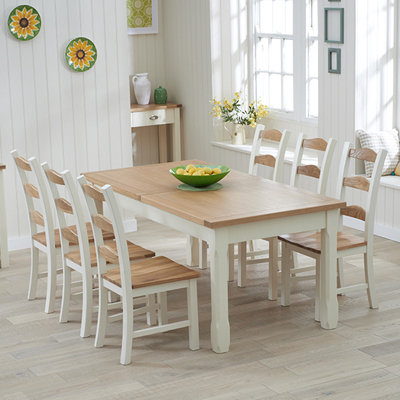 Popular Dining Table And 10 Chairs With Sandiego Oak And Cream 180cm Extending Dining Table With 10 Chairs (View 13 of 20)