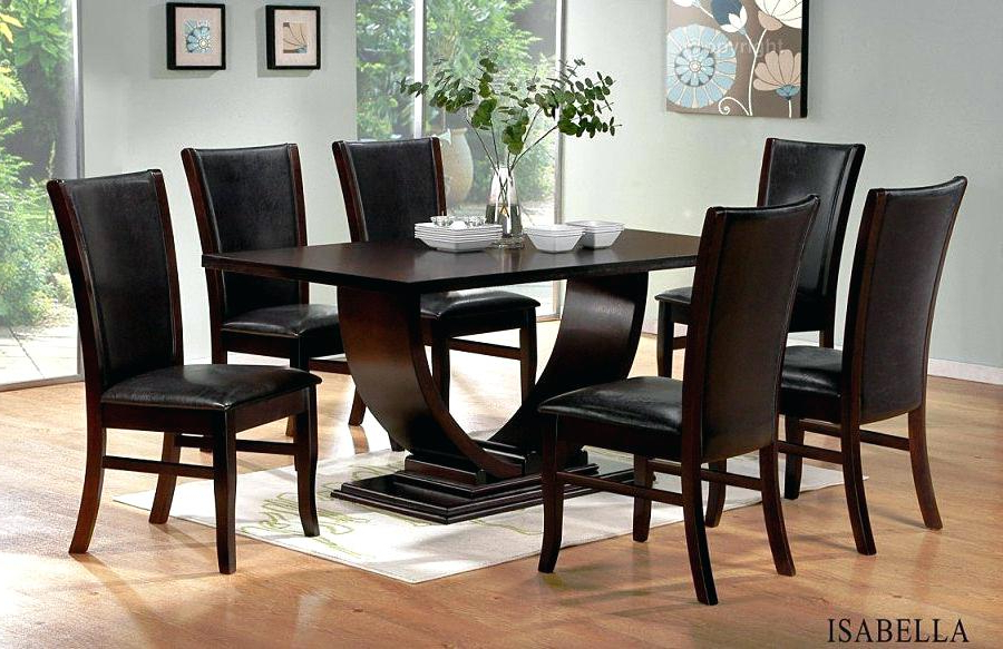 Popular Dining Tables And Chairs Dark Wood – Architecture Home Design • Pertaining To Dark Wood Dining Tables (View 16 of 20)
