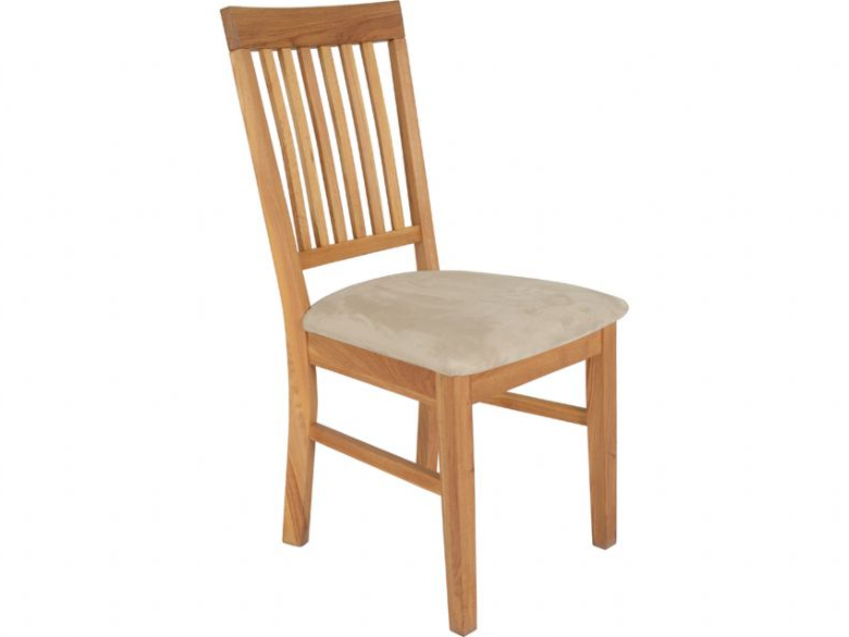 Popular Durham Oak Dining Chair With Fabric Seat – Furniture Barn Inside Oak Dining Chairs (Gallery 5 of 20)