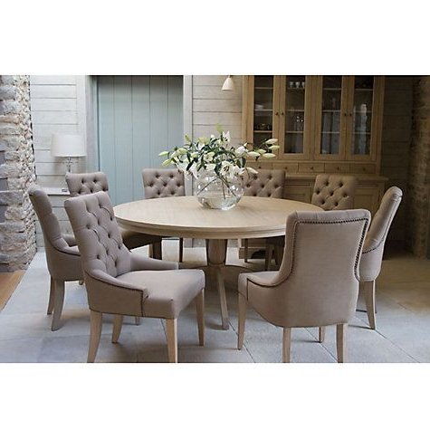 Popular Eight Seater Dining Tables And Chairs With Regard To Buy Neptune Henley 8 Seater Round Dining Table Online At Johnlewis (Gallery 8 of 20)