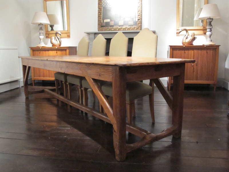 Popular French Farmhouse Dining Tables Intended For Wonderful 19Th Century French Farmhouse Dining Table – Dining Tables (View 3 of 20)