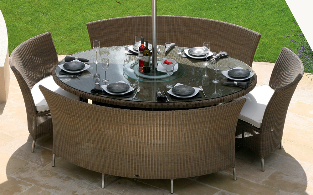Popular Garden Dining Tables And Chairs Within Patio: Inspiring Patio Tables And Chairs Outdoor Couches, Aluminum (View 16 of 20)